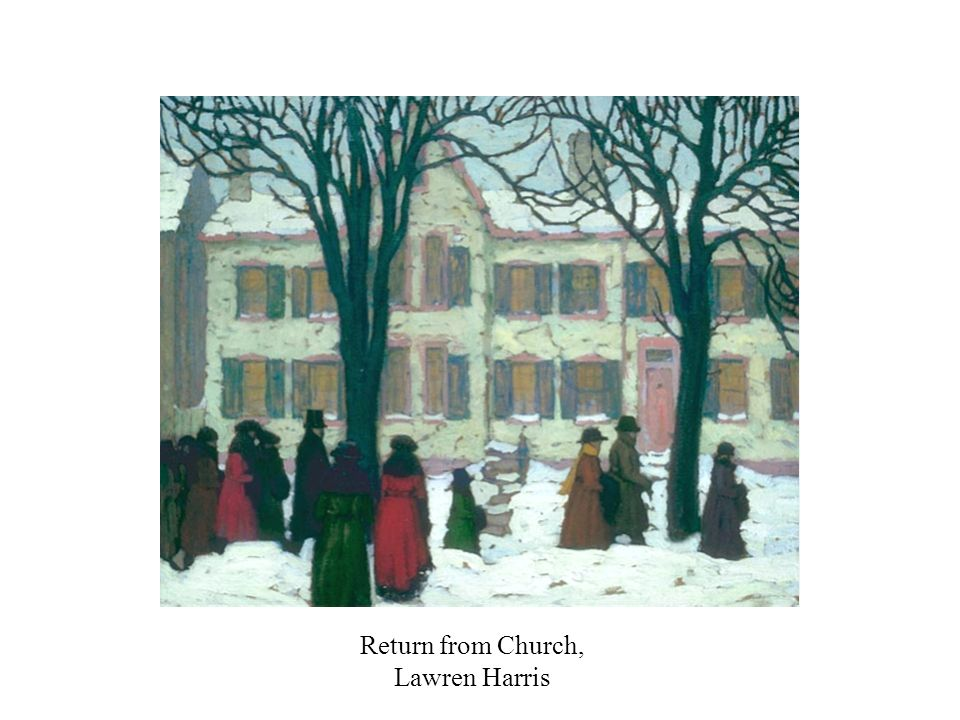 Return from Church, Lawren Harris