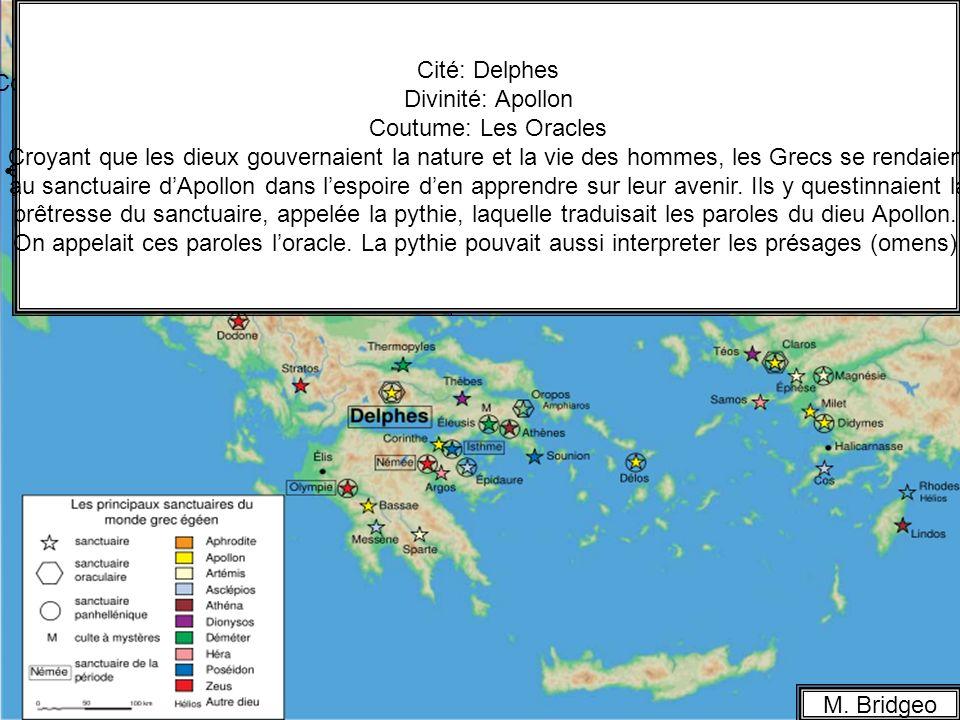 La religion en Grèce Cité: Olympie Cité: Athènes Divinité: Athéna