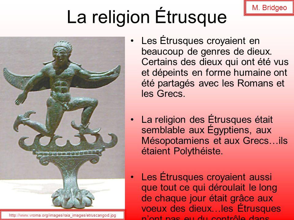 M. Bridgeo La religion Étrusque.