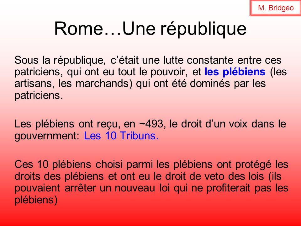 M. BridgeoRome…Une république.