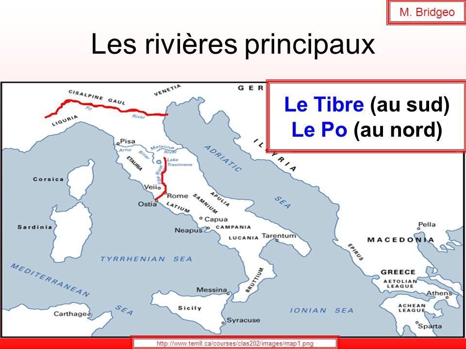 Les rivières principaux