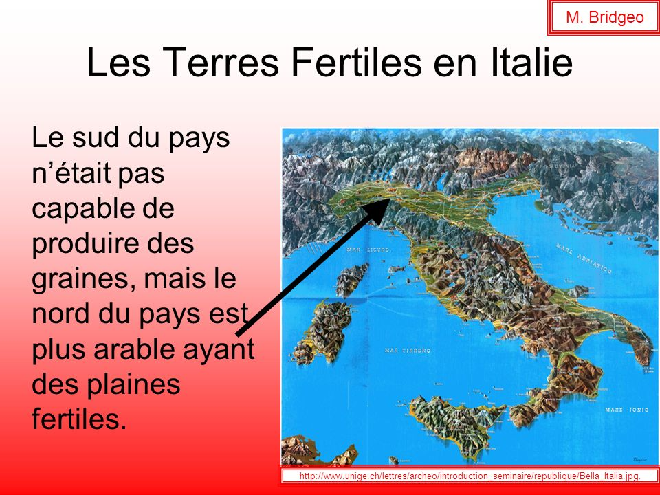 Les Terres Fertiles en Italie
