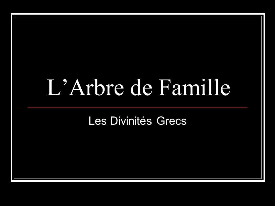 L'Arbre de Famille Les Divinités Grecs