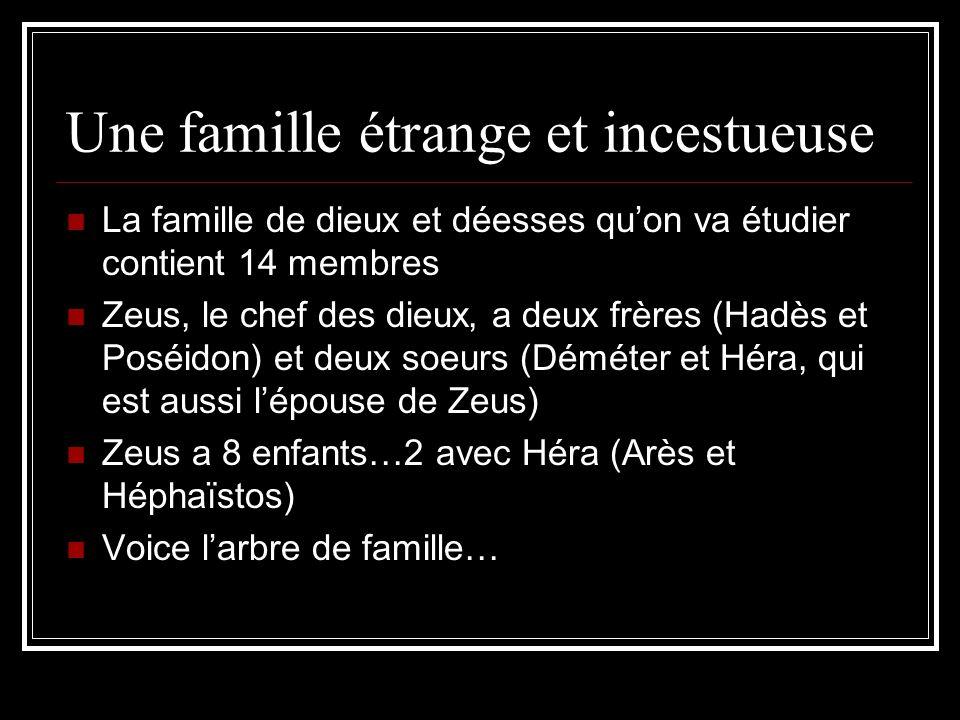 Une famille étrange et incestueuse
