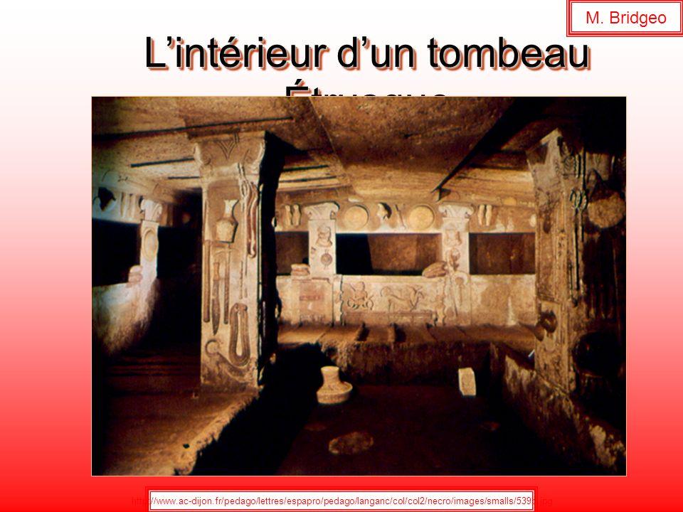 L'intérieur d'un tombeau Étrusque