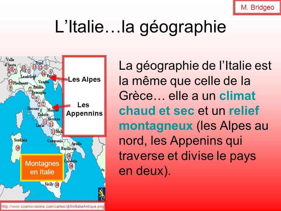 L'Italie…la géographie