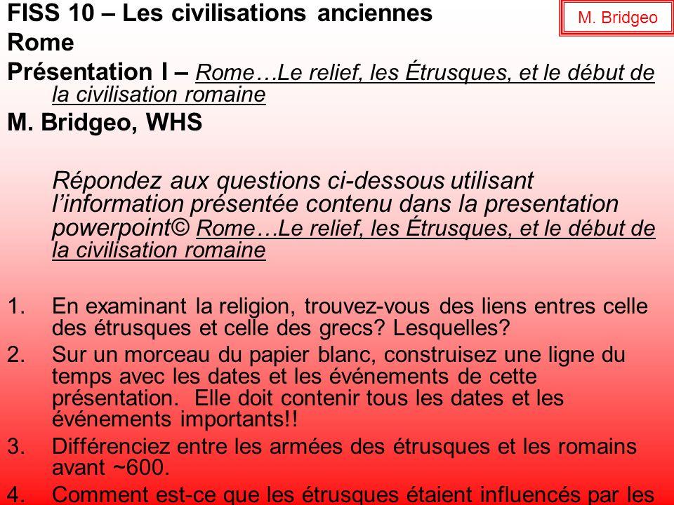 FISS 10 – Les civilisations anciennes Rome