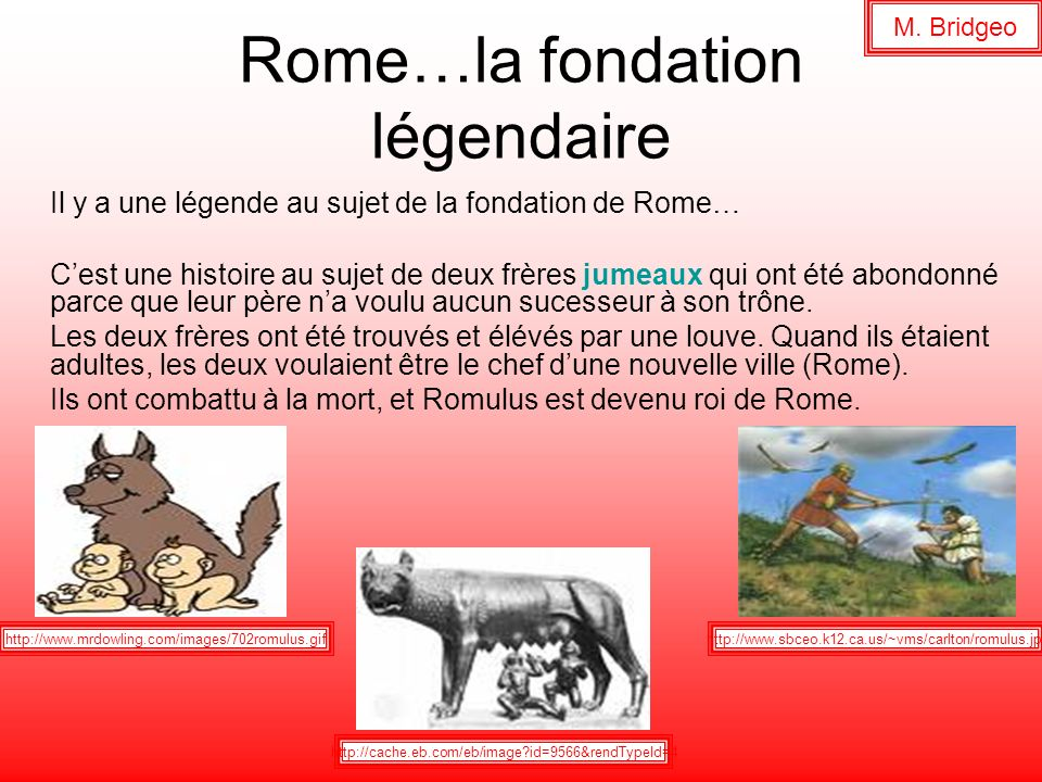 Rome…la fondation légendaire