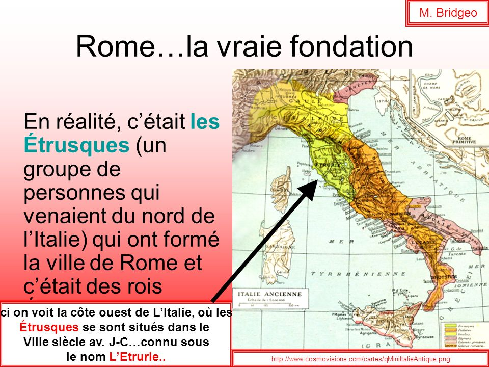 Rome…la vraie fondation