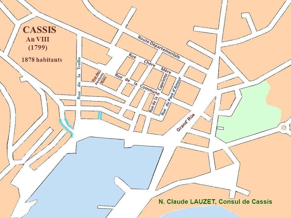 CASSIS An VIII (1799) 1878 habitants