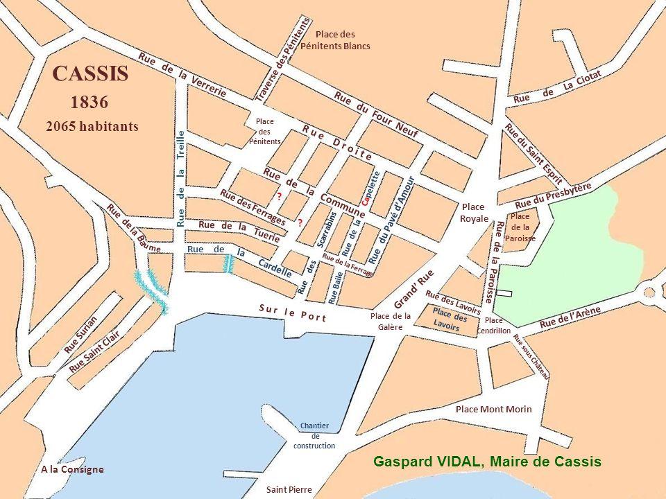 CASSIS 1836 2065 habitants Gaspard VIDAL, Maire de Cassis