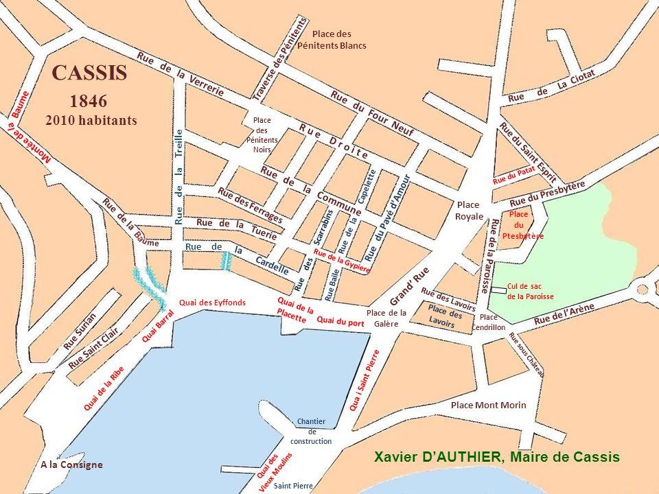 CASSIS 1846 2010 habitants Xavier D'AUTHIER, Maire de Cassis