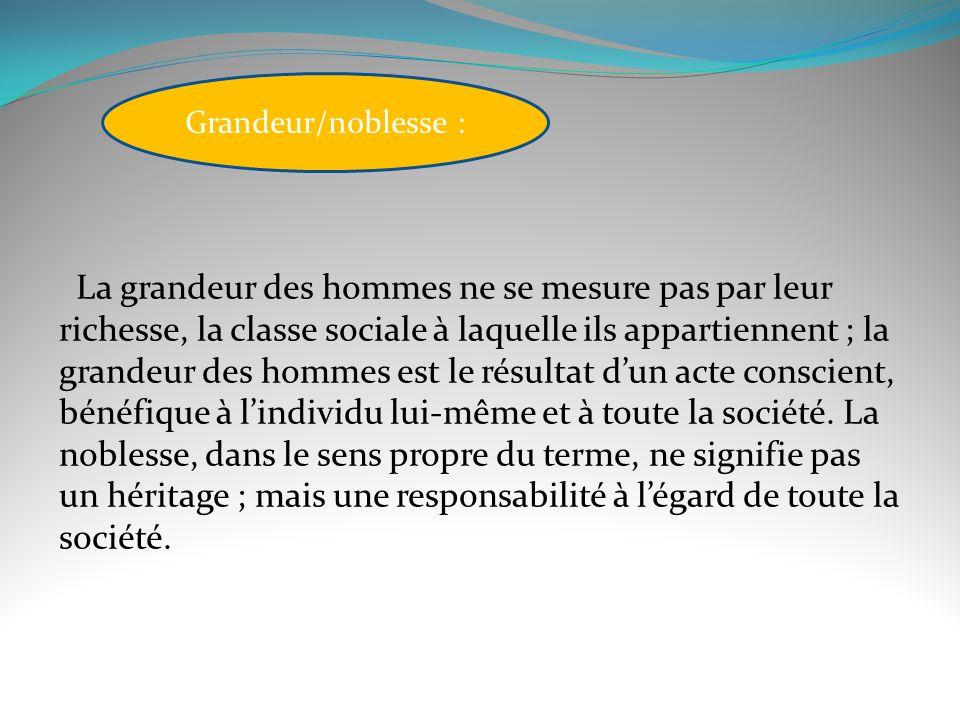 Grandeur/noblesse :