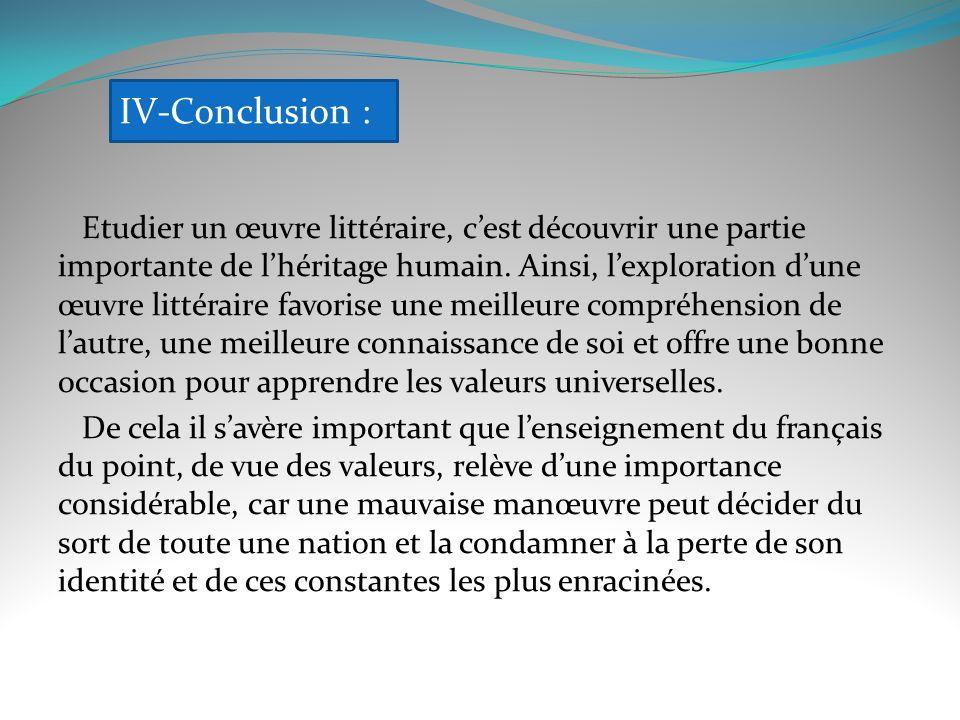 IV-Conclusion :