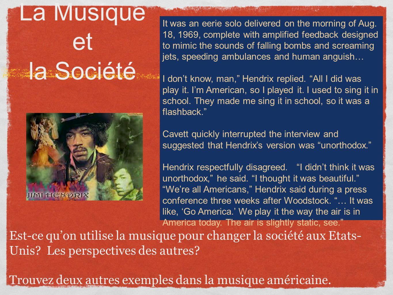 La Musique et la Société
