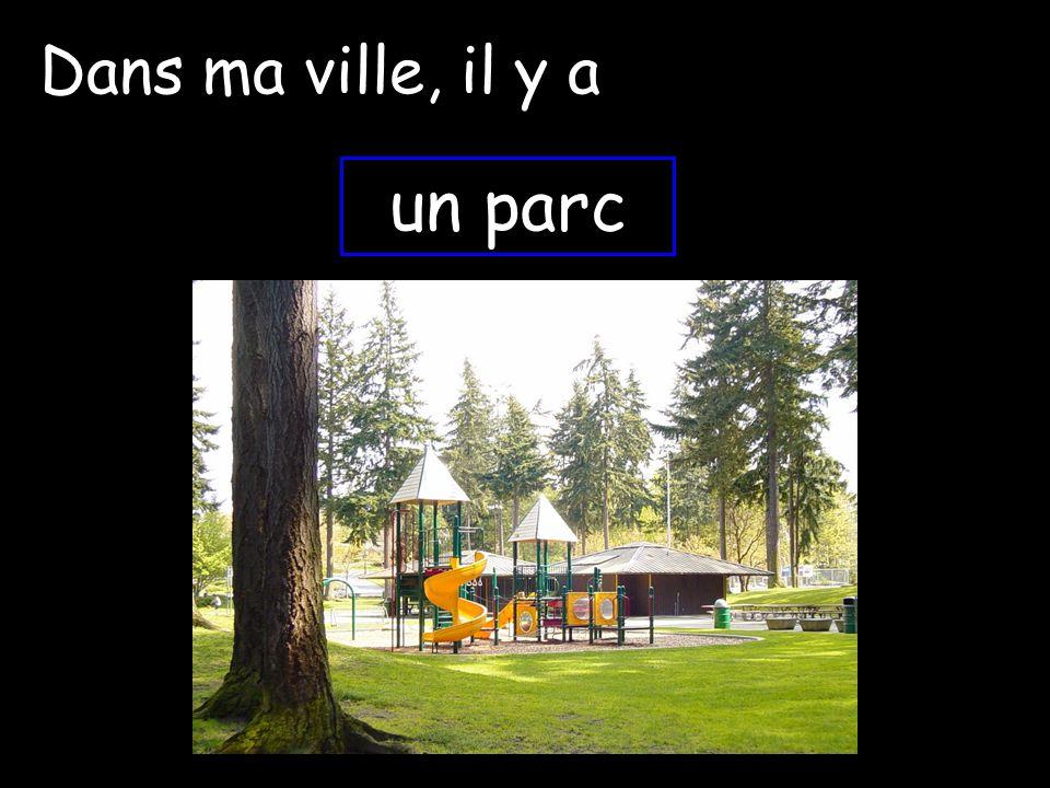 Dans ma ville, il y a un parc