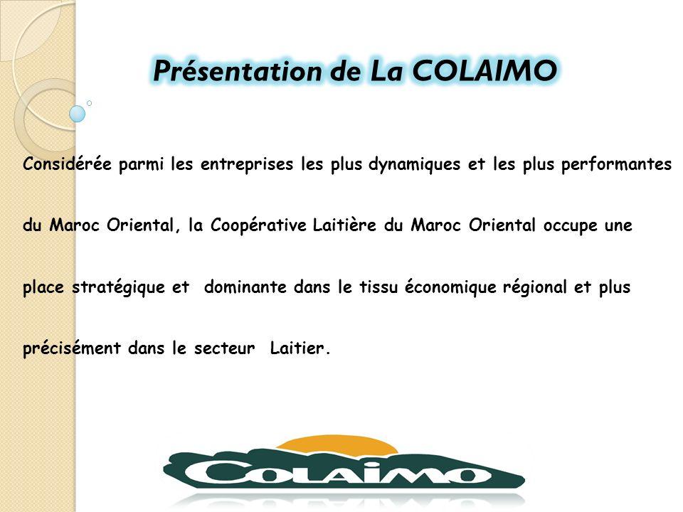 Présentation de La COLAIMO
