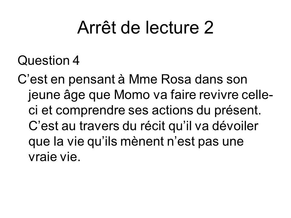 Arrêt de lecture 2 Question 4
