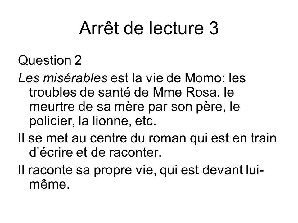 Arrêt de lecture 3 Question 2