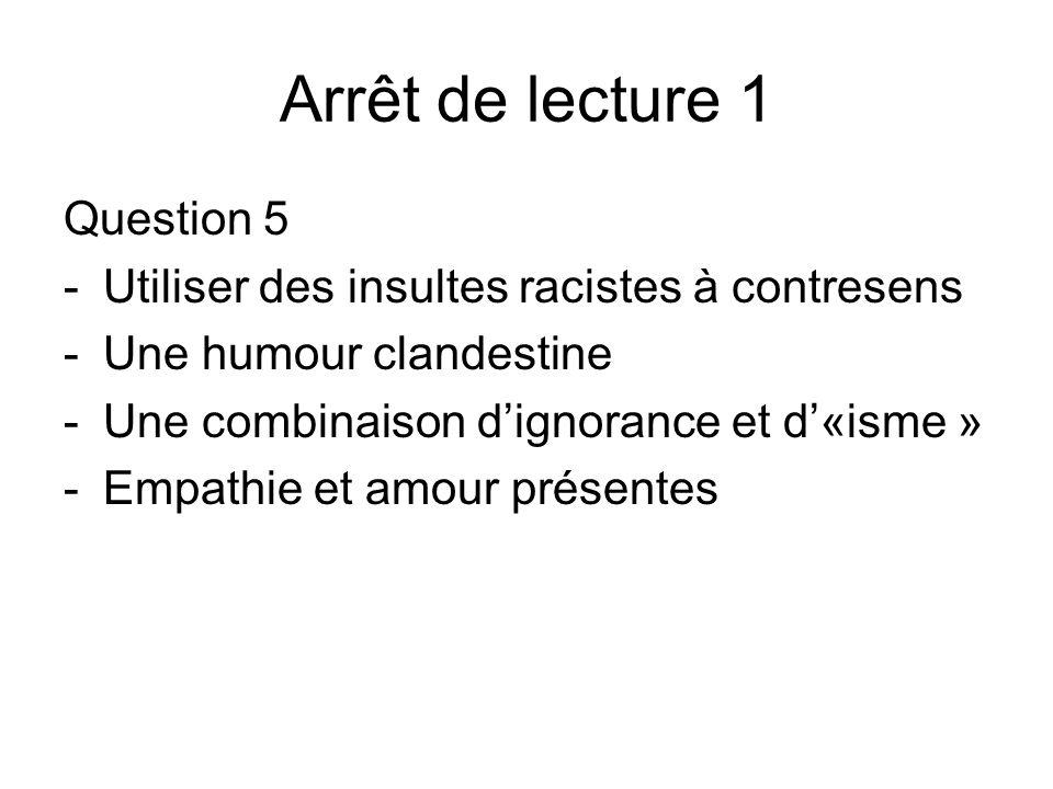Arrêt de lecture 1 Question 5