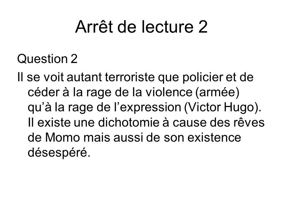 Arrêt de lecture 2 Question 2