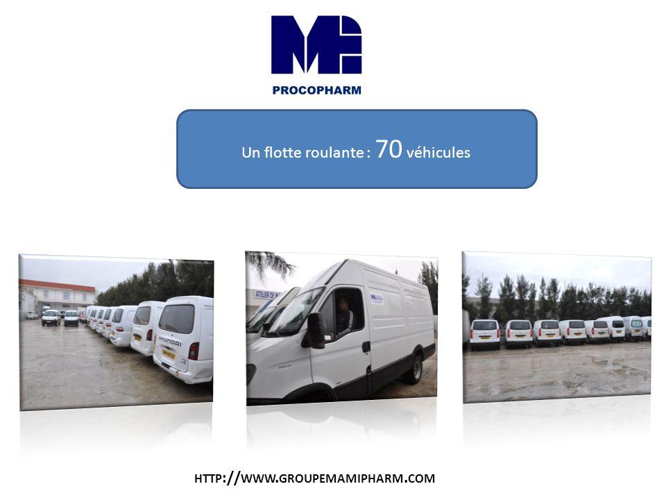 Un flotte roulante : 70 véhicules