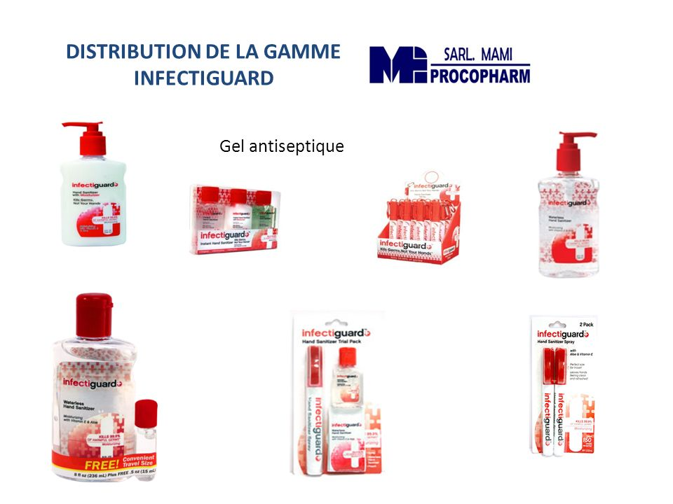 DISTRIBUTION DE LA GAMME INFECTIGUARD
