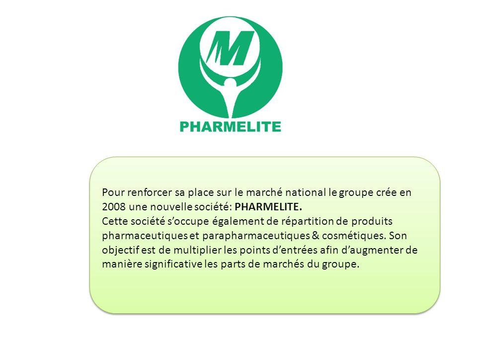 Pour renforcer sa place sur le marché national le groupe crée en 2008 une nouvelle société: PHARMELITE.