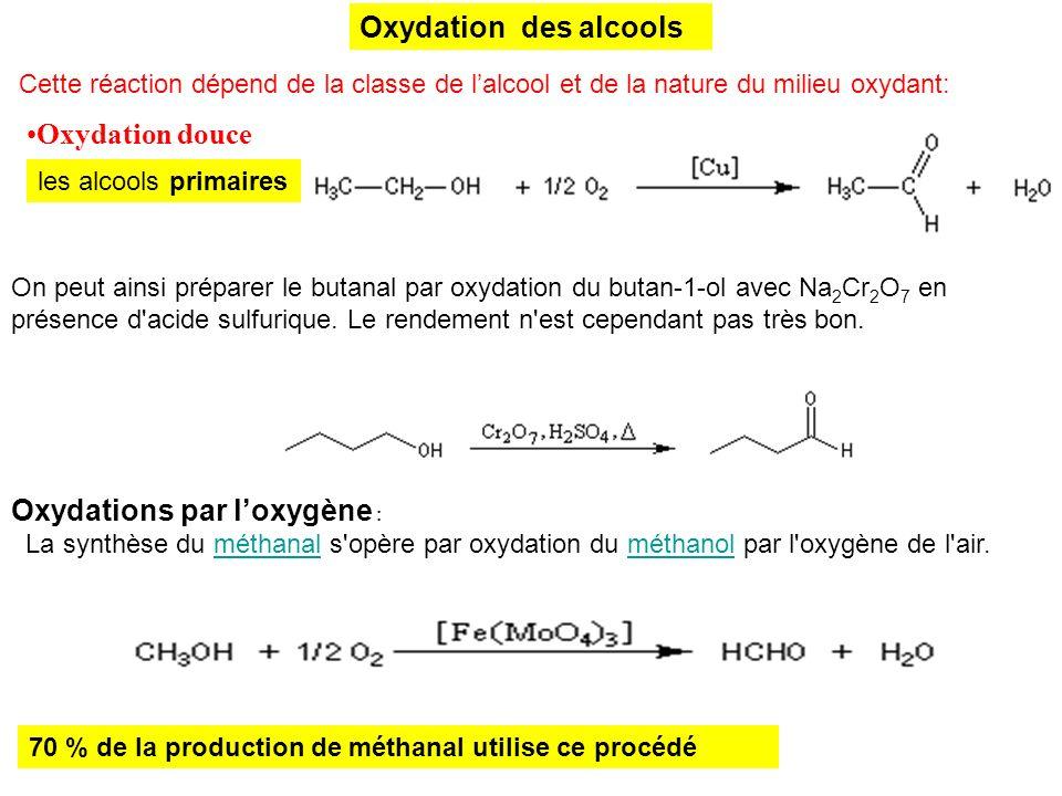 Oxydation des alcools Oxydation douce