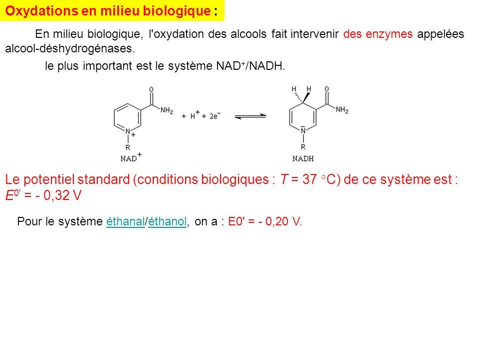 Oxydations en milieu biologique :