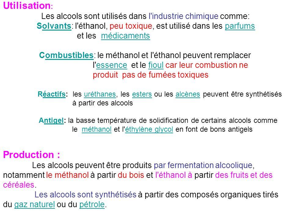 le méthanol et l éthylène glycol en font de bons antigels