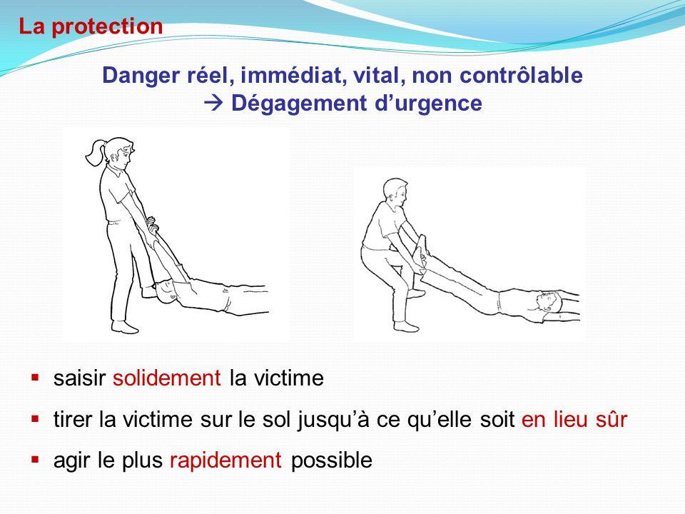 Danger réel, immédiat, vital, non contrôlable  Dégagement d'urgence