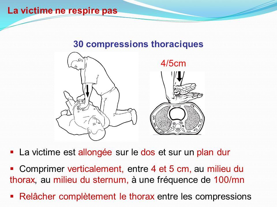 30 compressions thoraciques