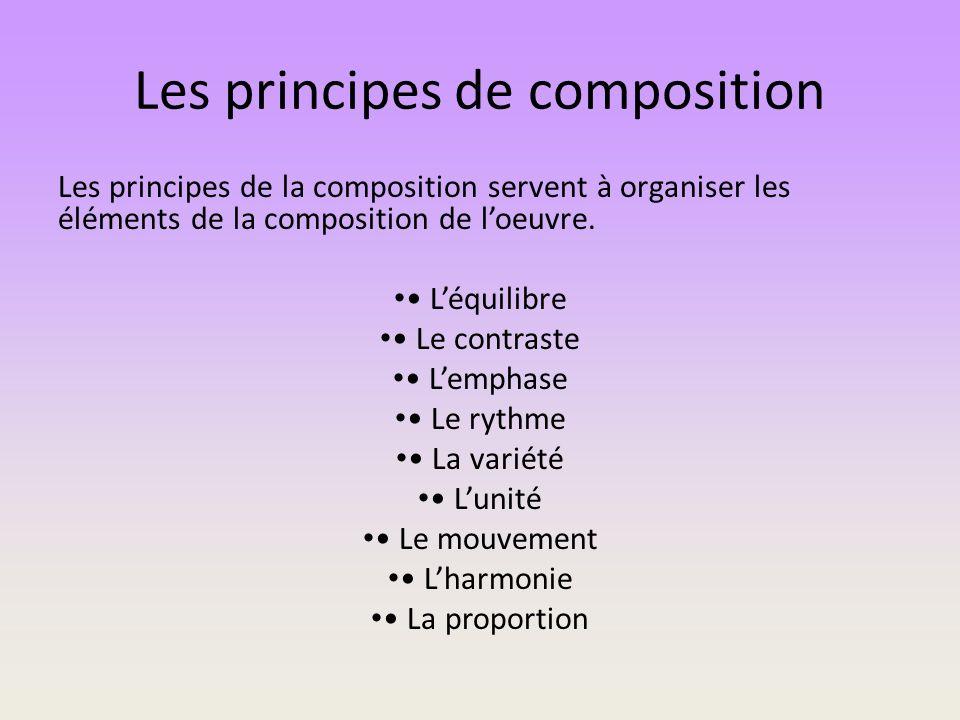 Les principes de composition