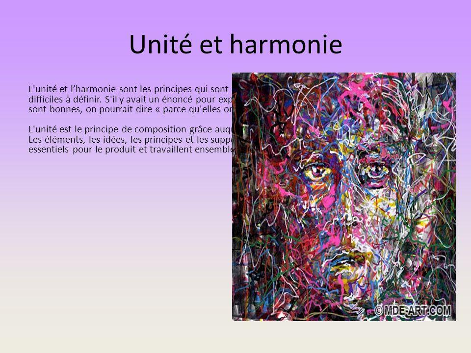 Unité et harmonie
