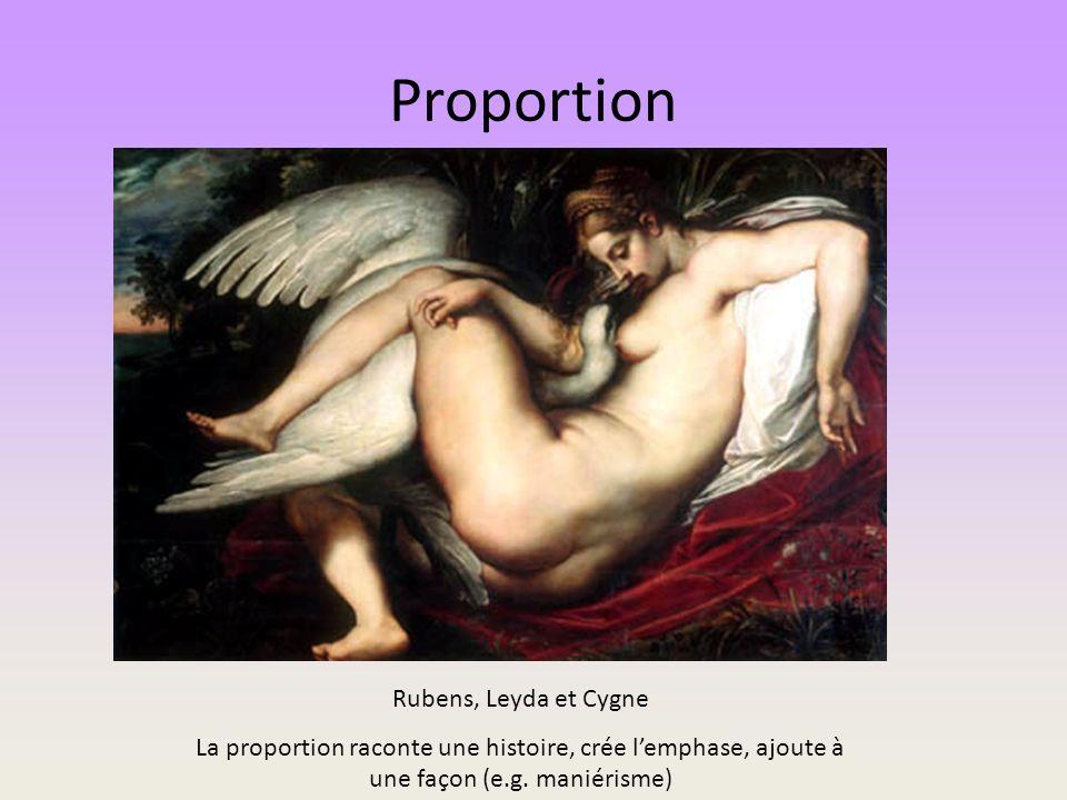 Proportion Rubens, Leyda et Cygne