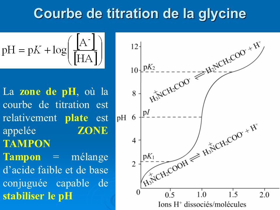 Courbe de titration de la glycine