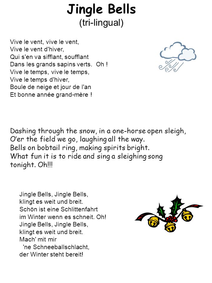 Jingle Bells (tri-lingual)