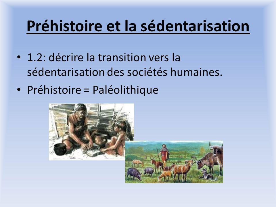 Préhistoire et la sédentarisation