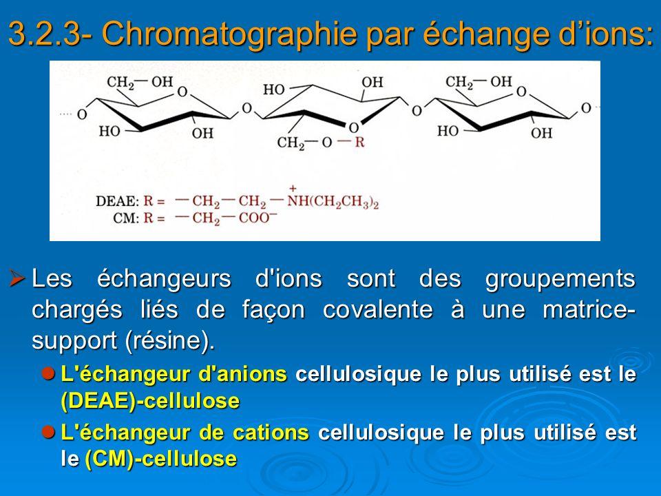 3.2.3- Chromatographie par échange d'ions: