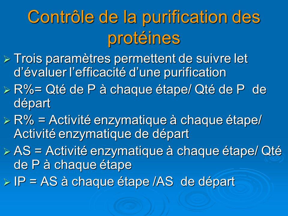 Contrôle de la purification des protéines