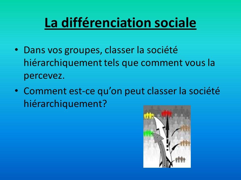 La différenciation sociale
