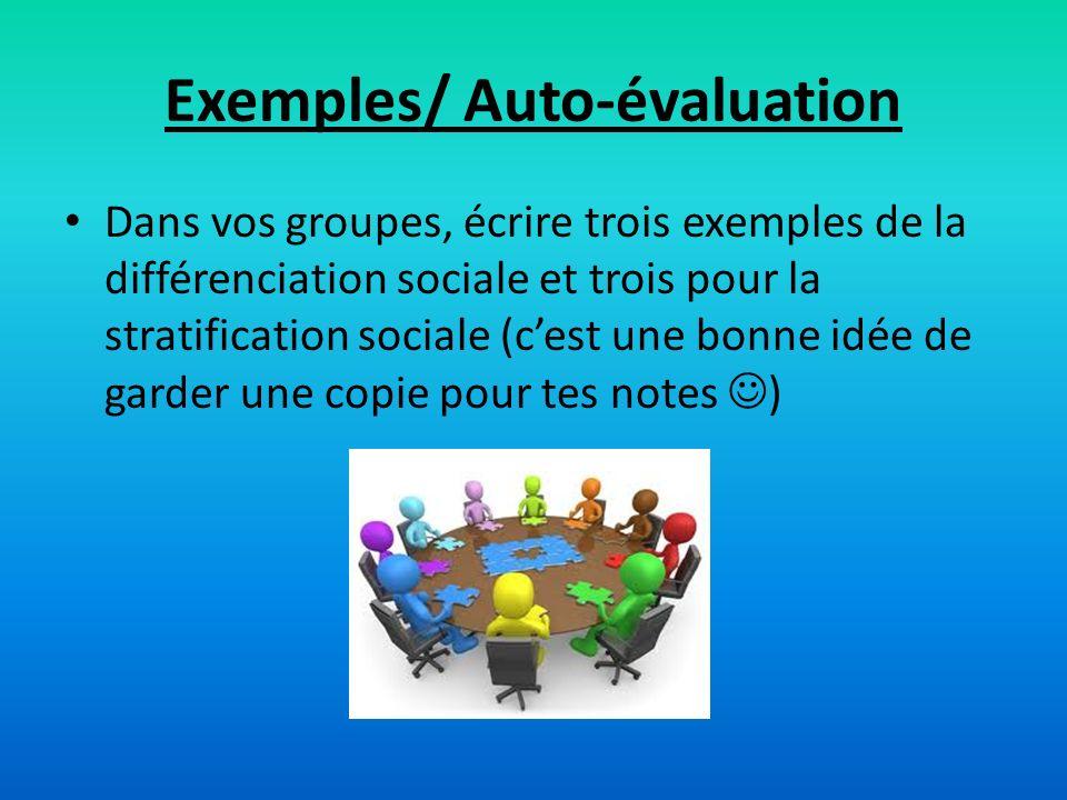 Exemples/ Auto-évaluation
