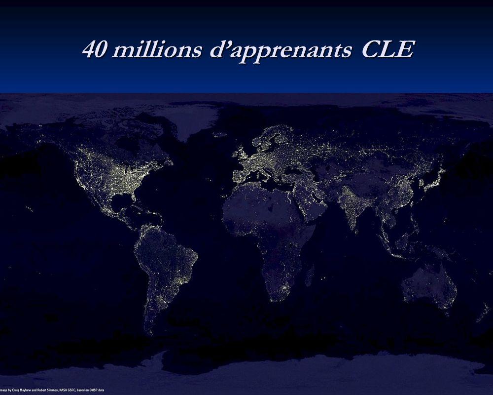 40 millions d'apprenants CLE