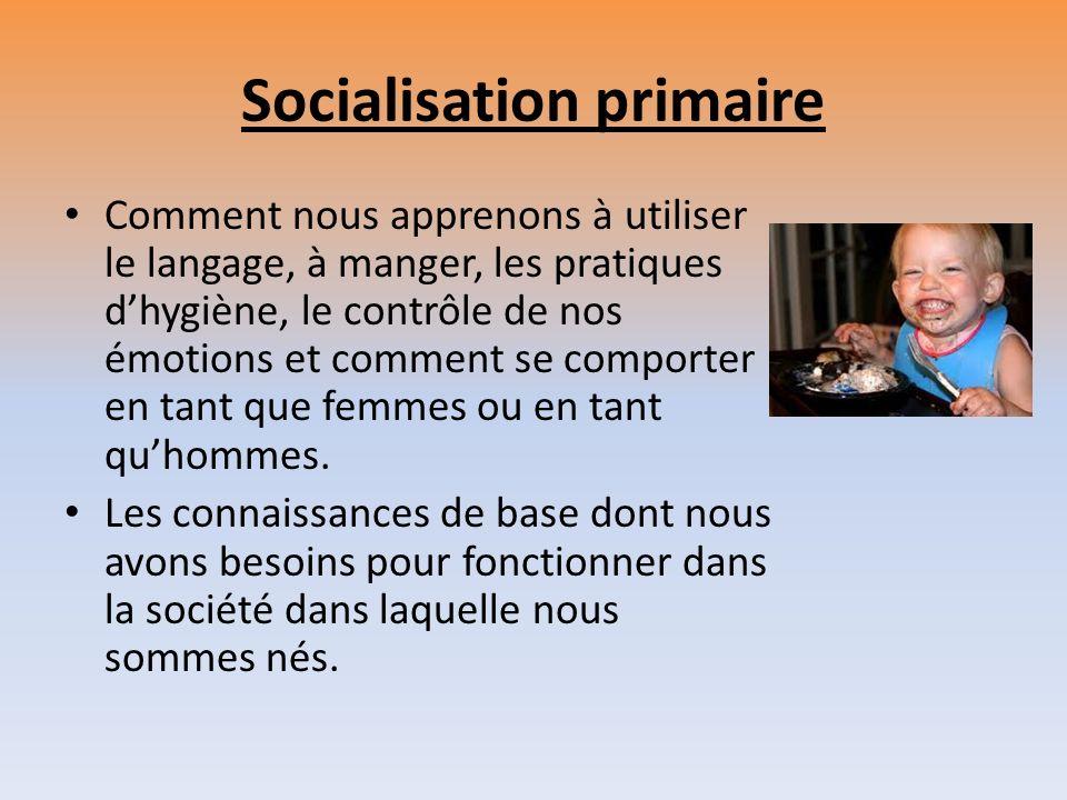 Socialisation primaire