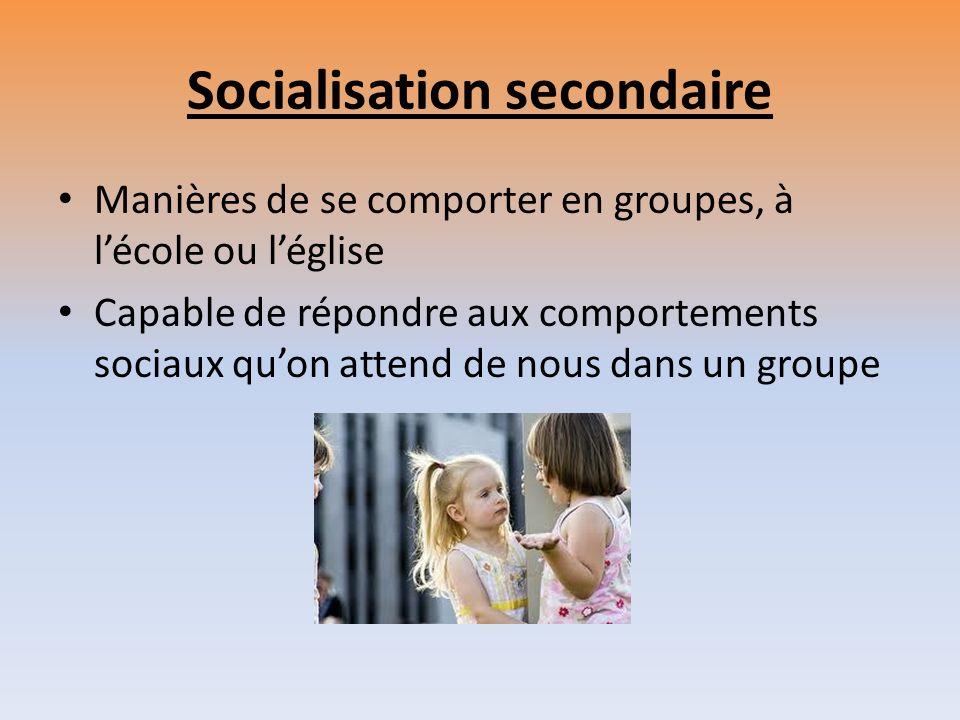 Socialisation secondaire