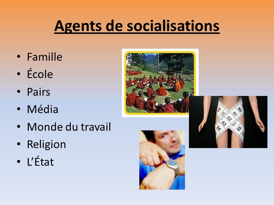 Agents de socialisations