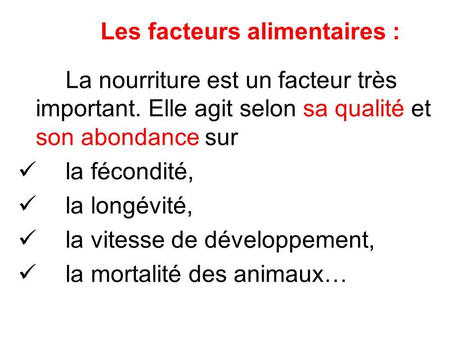 Les facteurs alimentaires :