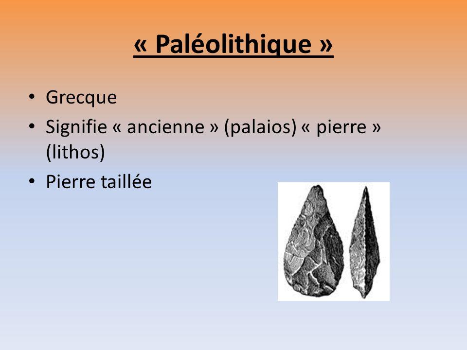 « Paléolithique » Grecque