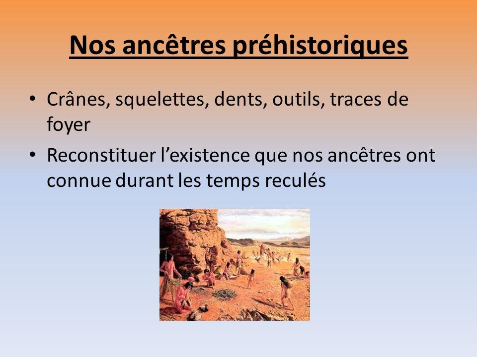 Nos ancêtres préhistoriques